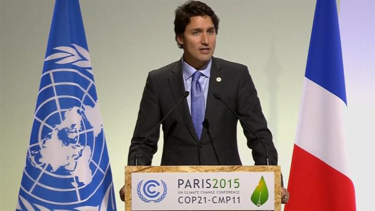 trudeau climate paris conference